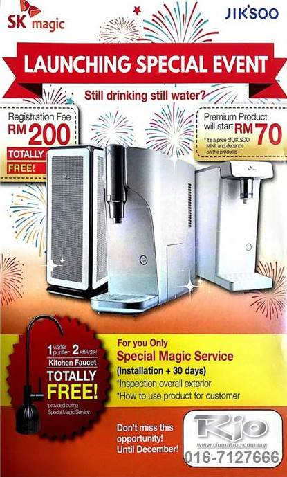 SK Magic Instant Water Purifier Promotion