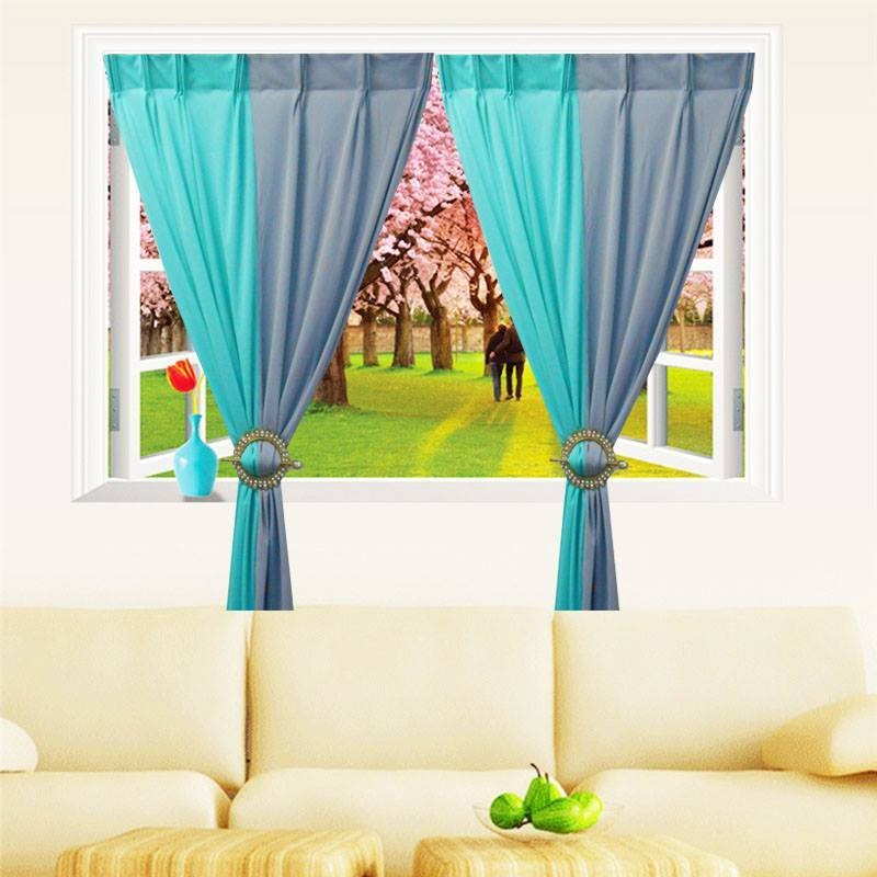1 Set Curtain INTERLOCK  2LAYER (2 PCS in Pack)