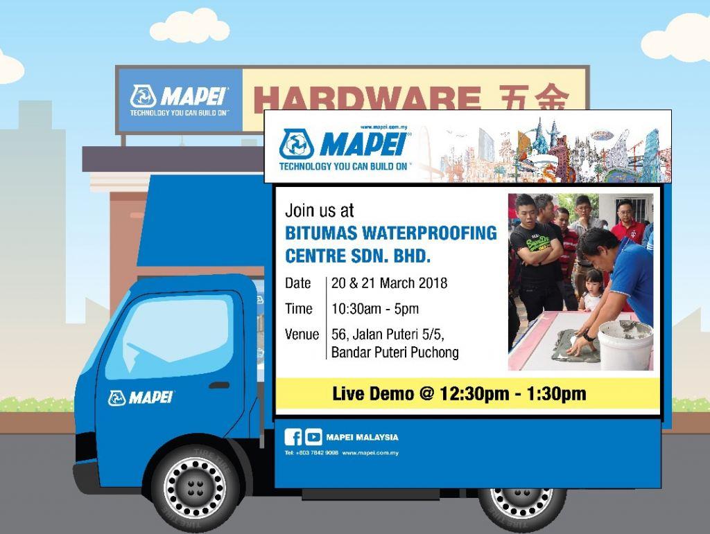 Mapei Roadshow 20&21 March