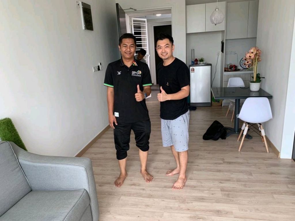 AC3+ Laminate Flooring Completed today at cyberjaya. Another one of our happy customers.