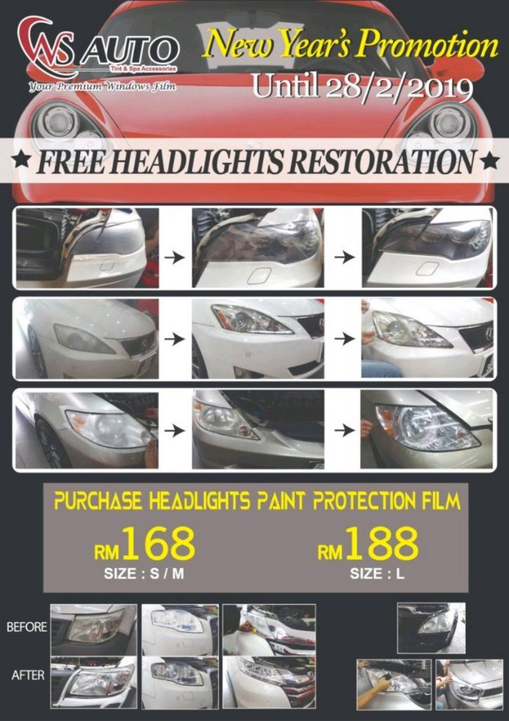 Headlampd Paint Protection Film PPF