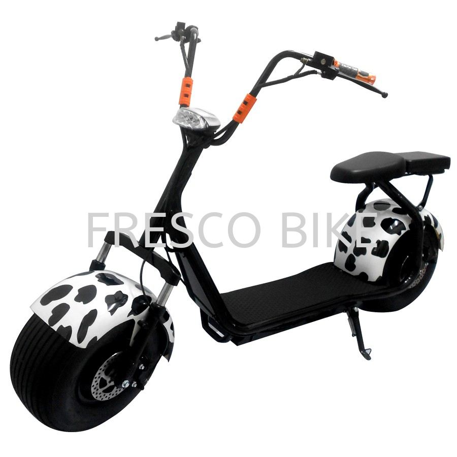 ELECTRIC SCOOTER HARLEY FRONT SUSPENSION DOUBLE SEAT 1000W 60V