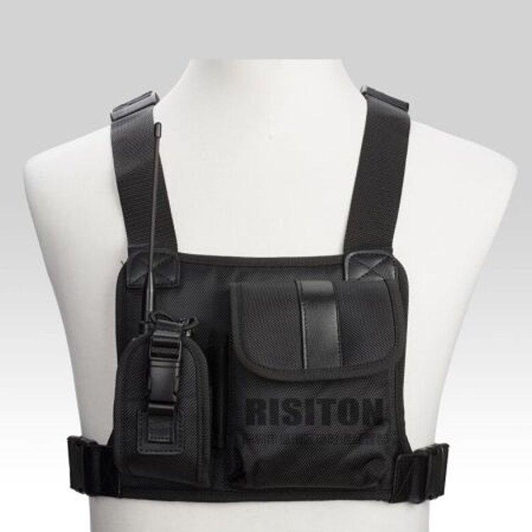 Universal Radio Carry Case/Holder Bag Walkie Talkie Chest Pocket Pack Backpack