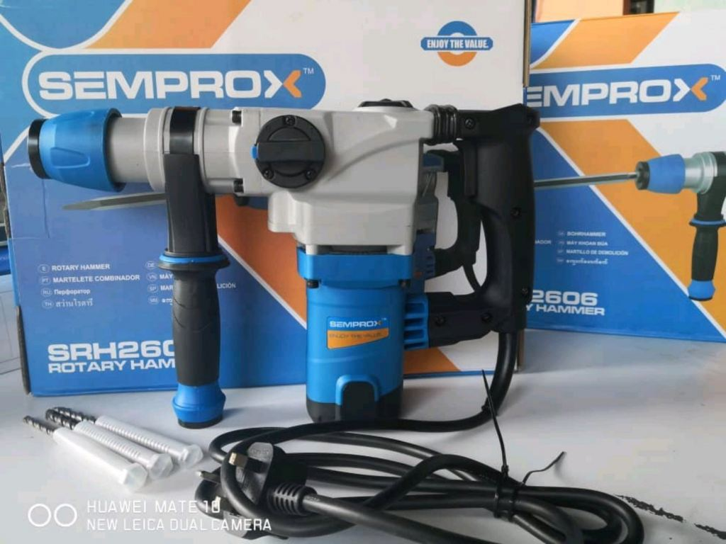 RM 299.99/1unit  Semprox Industrial Rotary Hammer  SRH 2606 26MM / 90W  ENJOY THE VALUE  MORE INFORMATION PLEASE CONTACT US WWW.WASAP.MY/60126868099  WWW.WASAP.MY/60126606788