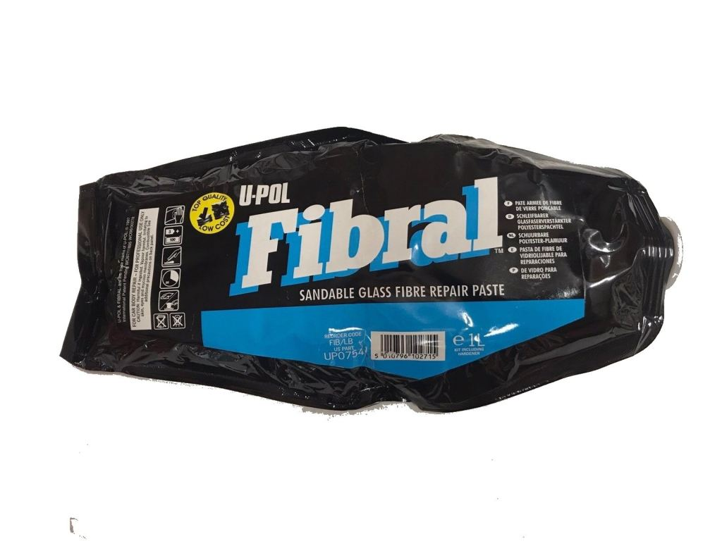 U-POL Products UP0754 Fibral Sandable Glass Fibre Repair Paste, 1L Bag
