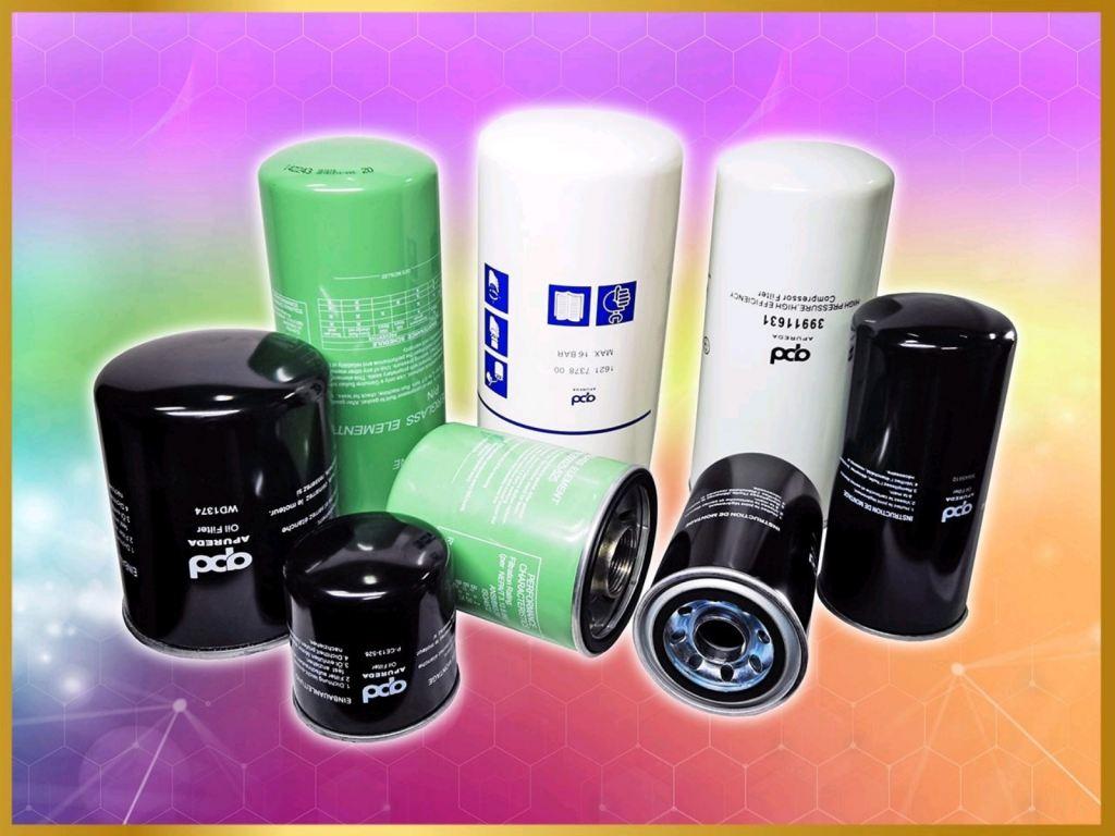 Air Screw Compressor Oil Filter Coolant Filter