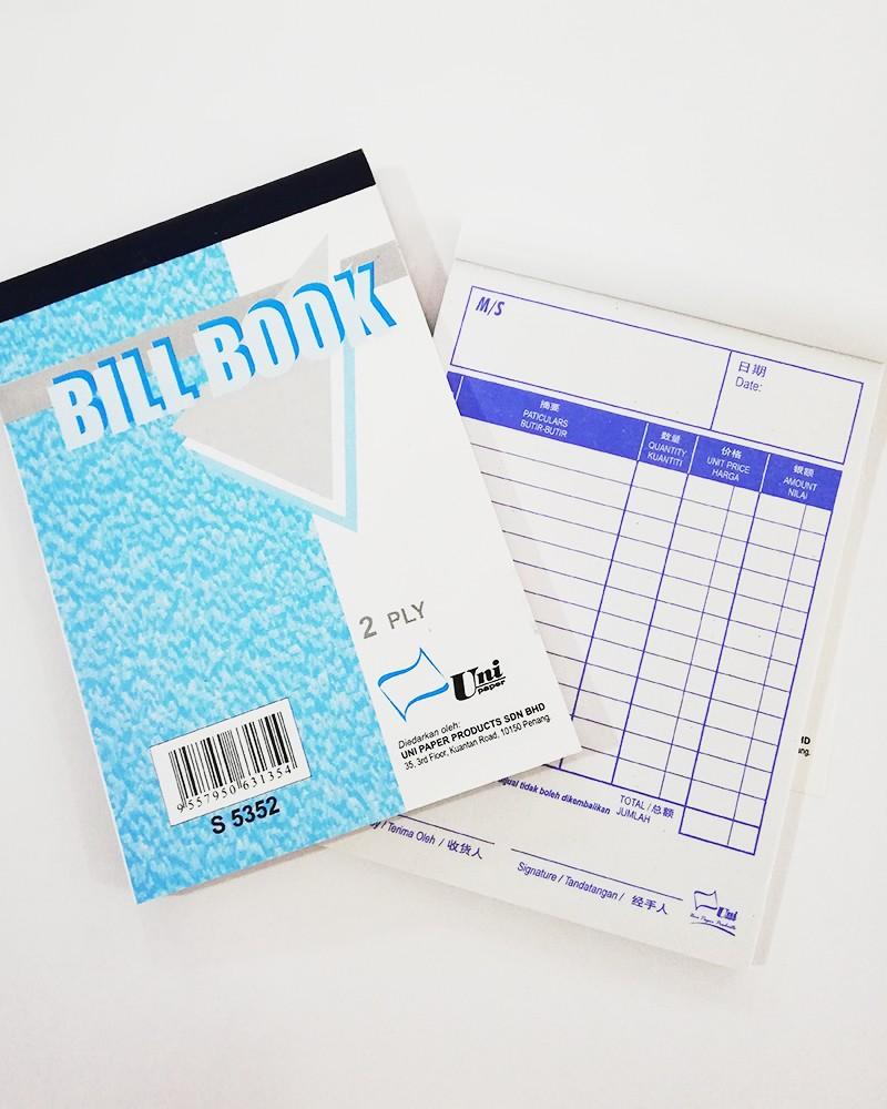 BILL BOOK UNI PAPER