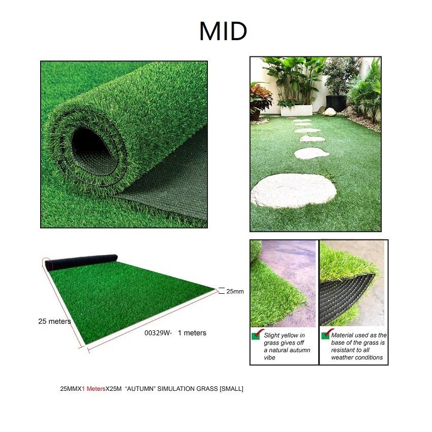 ^25MMX1MX25M  ARTIFICIAL GRASS [MID] --00329W