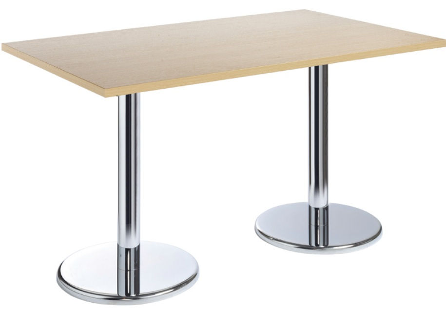 Conference table with chrome drum leg