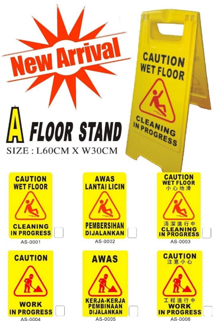 PVC Signage Floor Stand