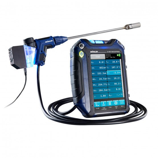Wohler A 550 INDUSTRIAL Portable Flue Gas Emissions Analyzer