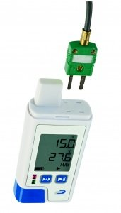 DOSTMANN LOG200 TC PDF- data logger with display for internal & external temp, Order No. : 5005-0204