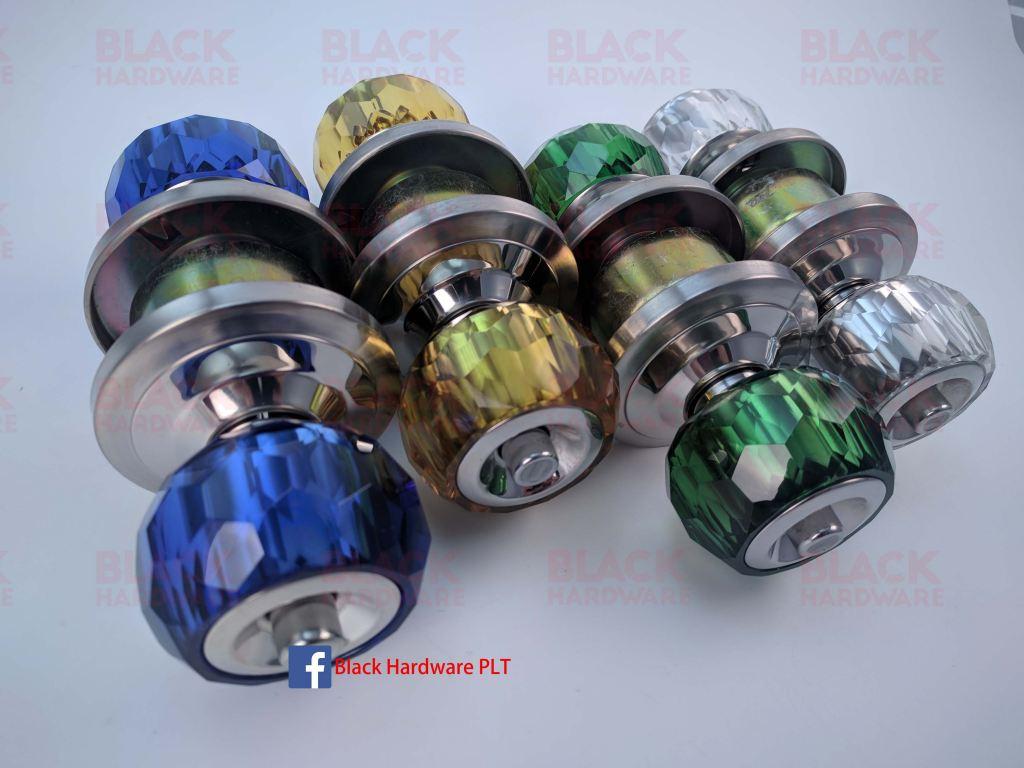 JTC JCL-8900 Crystal Cylindrical Door Knob Lock