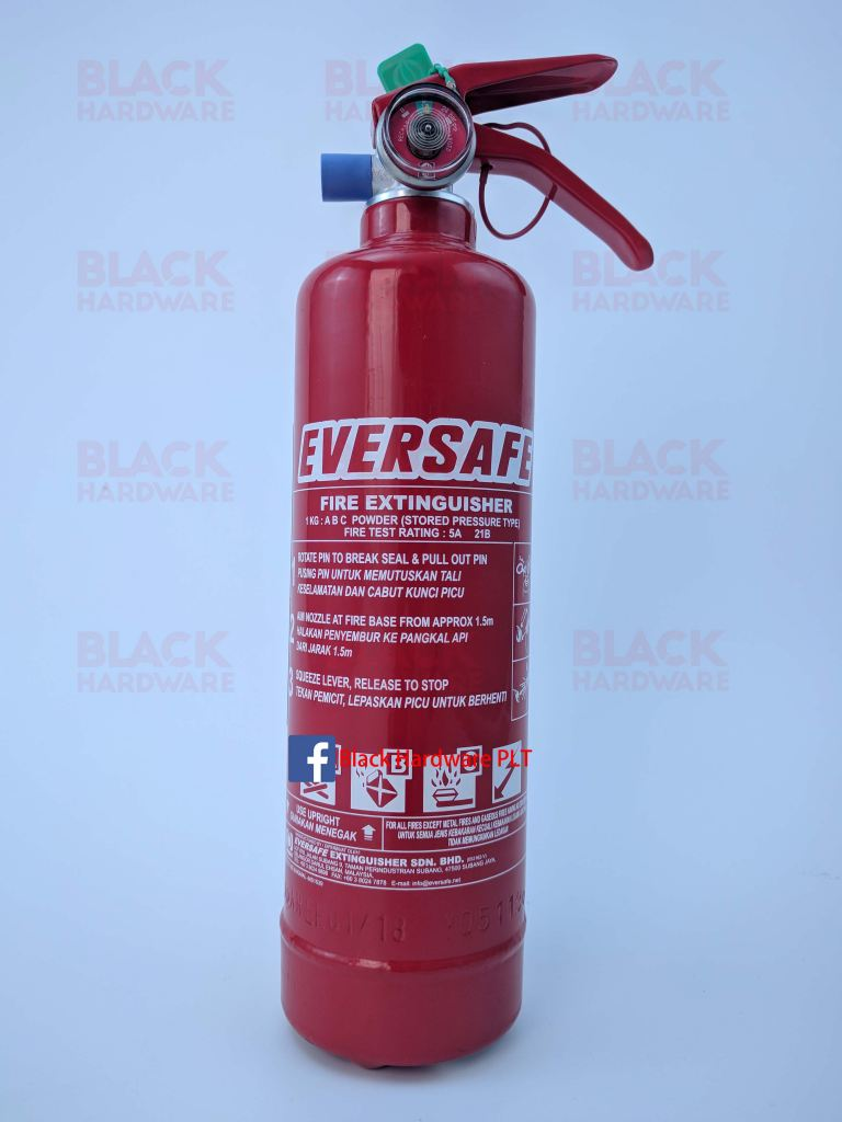 1kg Fire Extinguishers/Pemadam Api/Eversafe