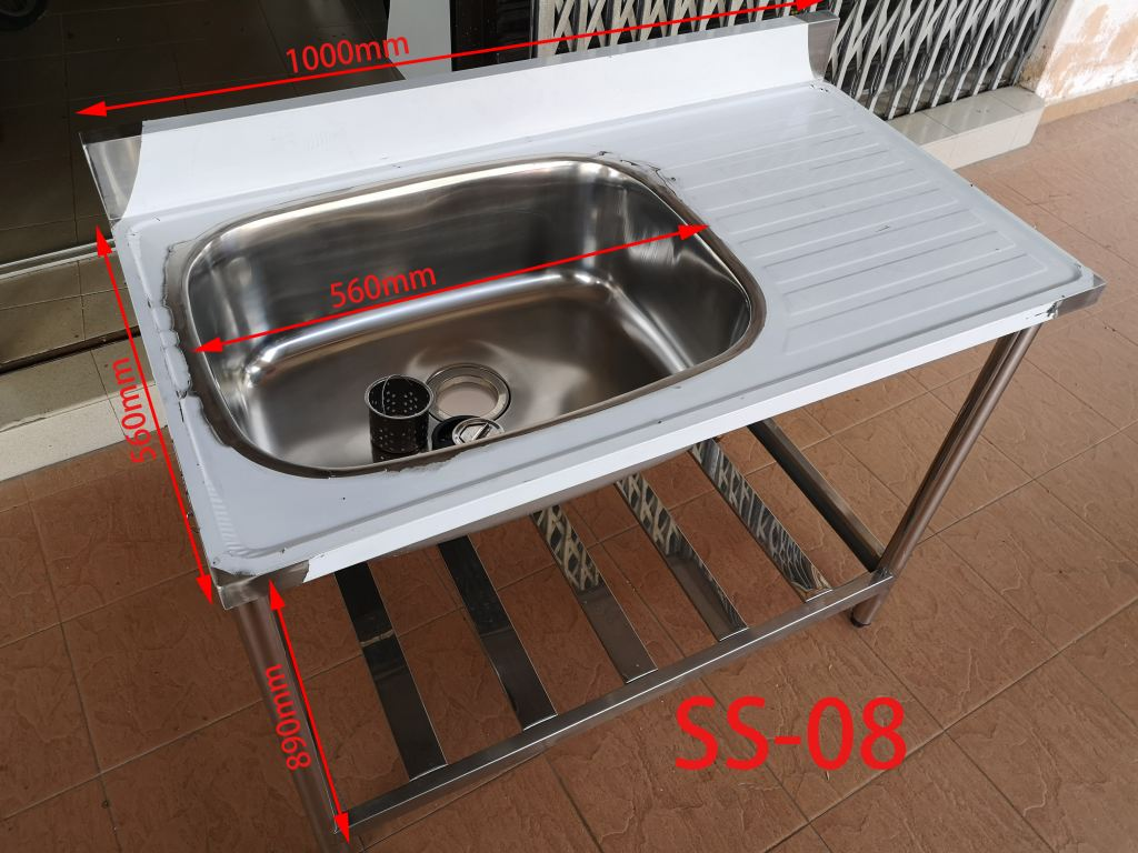304 Stainless steel sink with shelf local manufacture