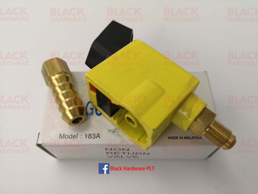 Golden Fuji Non Return Unreduced Pressure Liquefied petroleum Methane Gas Regulator Valve Coupling183A