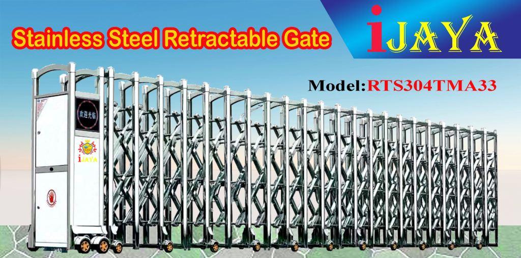 iJAYA RTS304TMA33 Stainless steel Retractable Gate