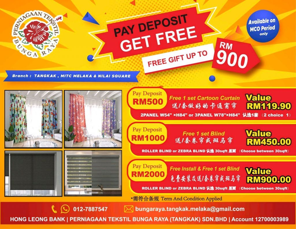 PAY DEPOSIT GET FREE GIFT UP TO RM900