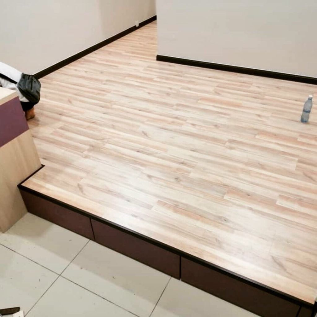 Platform With Laminate Flooring