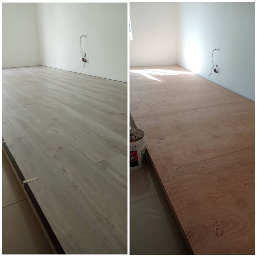 Platform and Laminate Flooring