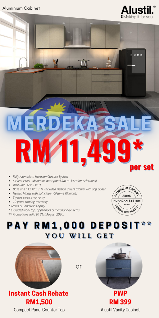 Merdeka Sale 2020! Custom Made Aluminium Kitchen Cabinet
