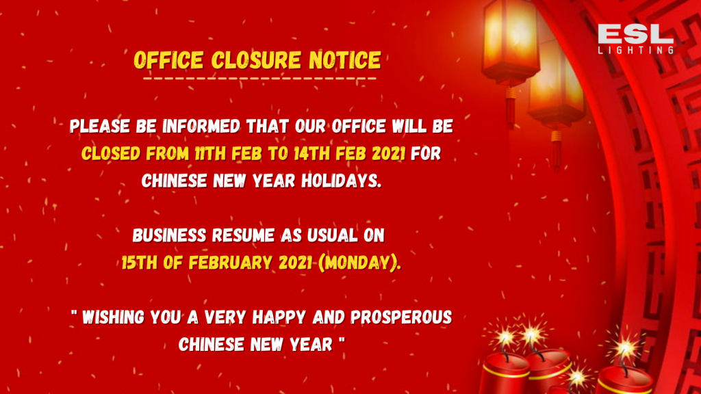 OFFICE CLOSURE NOTICE