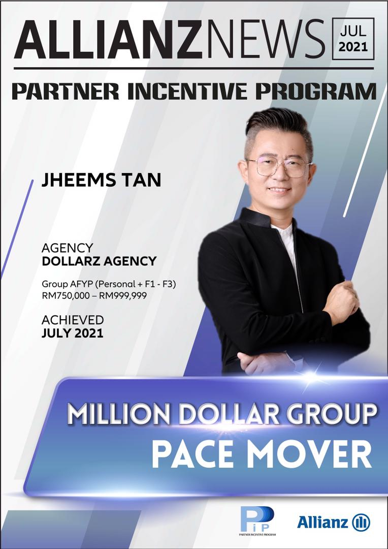 PIP Million Dollar Group PACE MOVER AWARD