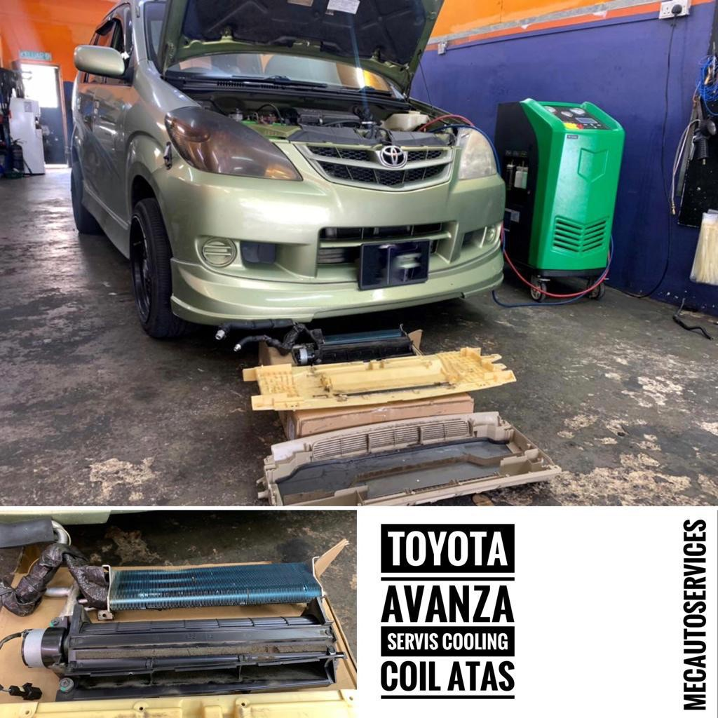toyota avanza servis cooling coil atas