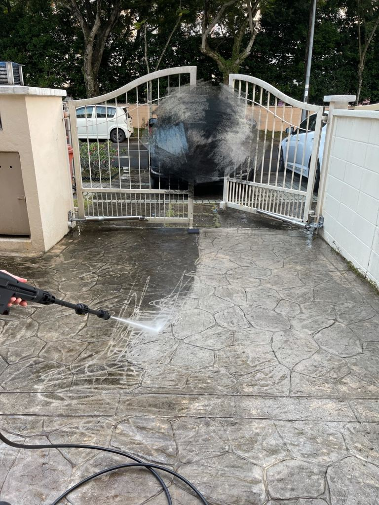 Car Porch Floor Cleaning At Kota Damansara